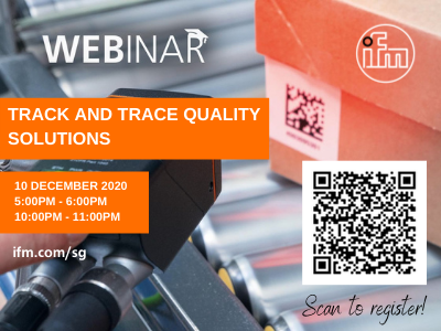Singapore-Industrial-Automation-Association-event-2020-12-ifm-Track-Trace-Quality-Solution